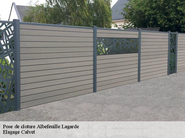Pose de cloture  albefeuille-lagarde-82290